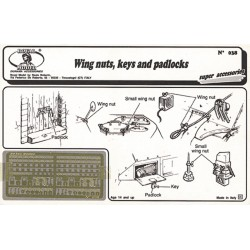 Wing nuts, keys and padlock (1/35)