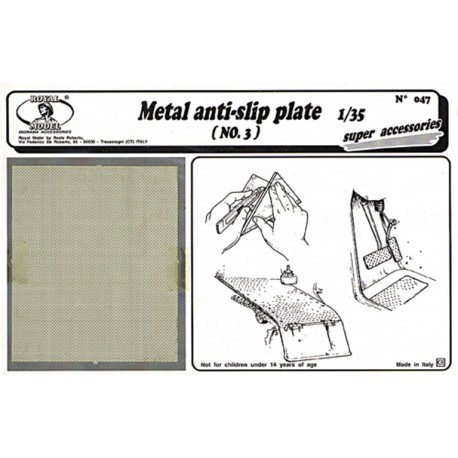 Metal anti - slip plate n.3 (1/35)