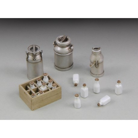 Milk bottles with crates and churms (1/35)