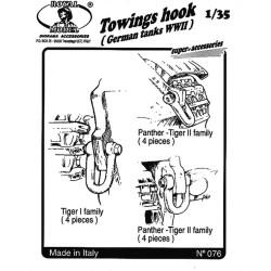 """Towings hook """"German tank"""" (1/35)"""