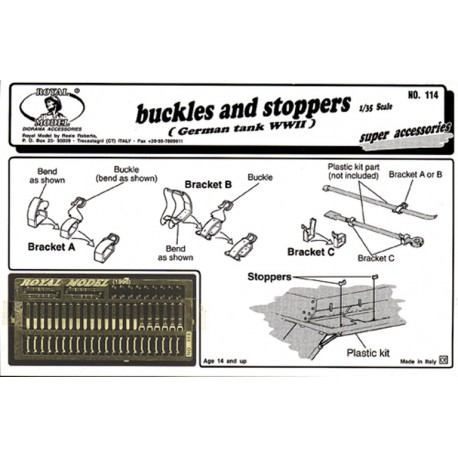 """Buckles and stoppers """"German tank"""" (1/35)"""