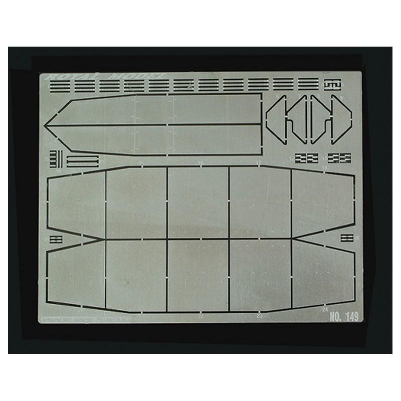 Articolo realizzato in metallo fotoinciso (per il kit Tamiya).