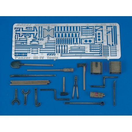 Pz. III-IV Tools & Holders - WWII (1/35)