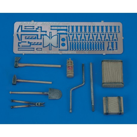 Panther/Jagdpanther Tools & Holders-WWII (1/35)