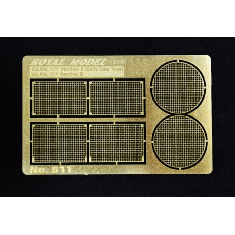 """Engine grill screen """"Panther A/D"""" (1/35)"""