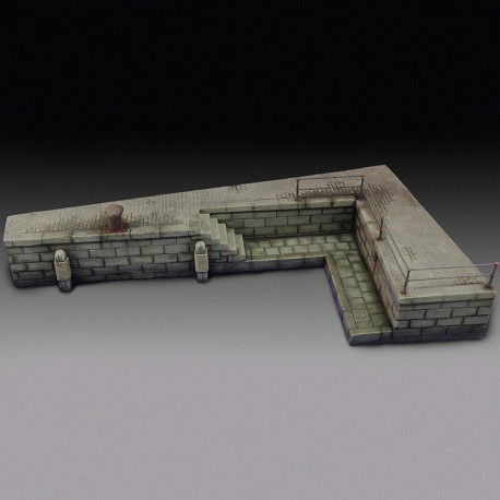 Wharf section (1/35 Scale)