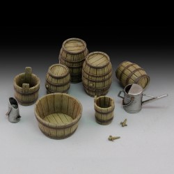 Wine barrels and farm accessories (1/35)