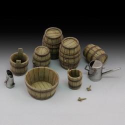 Wine barrels and farm accessories (1/35)