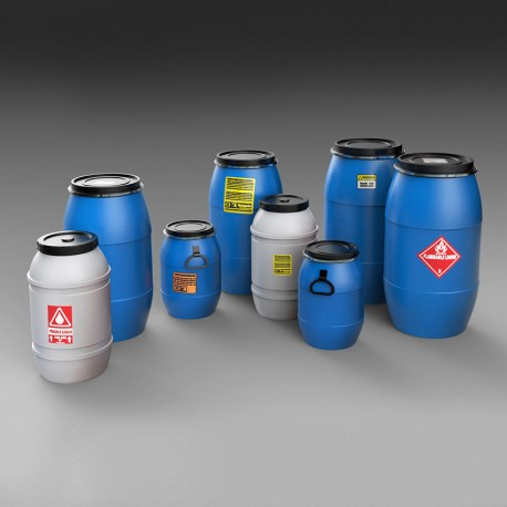 Plastic chemical/water containers (1/35)