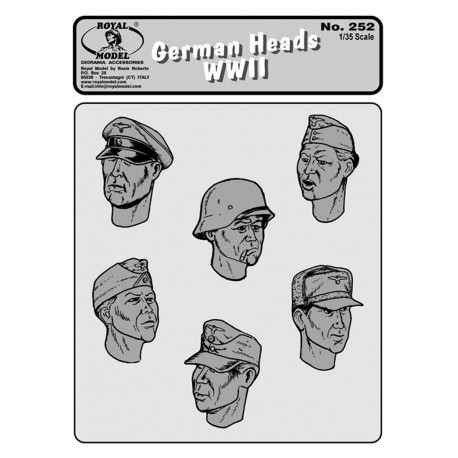 German heads WWII n.1 (1/35)