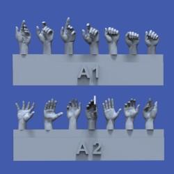 Assorted hands set No.1 (1/35)