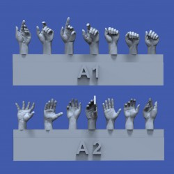 Assorted hands set No.1 (1/35)