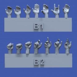Assorted hands set No.2 (1/35)