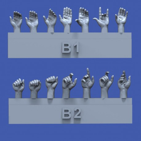 Assorted hands set No.2 (1/35)