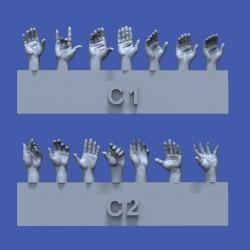 Assorted hands set No.3 (1/35)