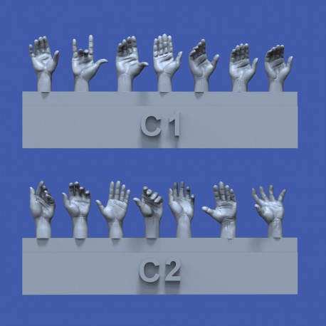 Assorted hands set No.3 (1/35)
