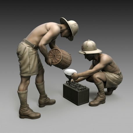 Italian soldiers battery maintenance (1/35)