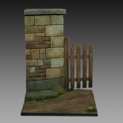 Base with wall and gate (1/35-1/32 scale)