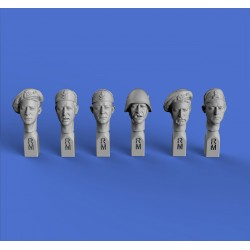 Italian heads WWII (No.1)  (1/35 scale)