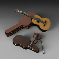 Guitar and violin (1/35 scale)