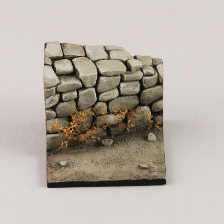 Base with stone wall  (1/35-1/32 scale)