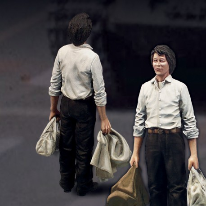 Tank Man 'Tienanmen 1989' (1/72 scale)