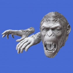 Apes Heads & Hands set (1/35 scale)