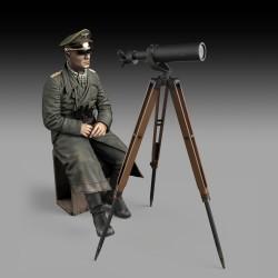 Erwin Rommel with tripod telescope (75mm)
