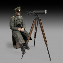 Erwin Rommel with tripod telescope (75mm)