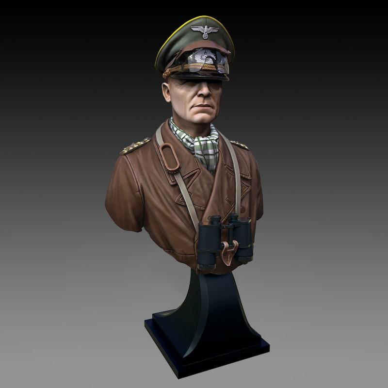Erwin Rommel bust (1/16 scale)