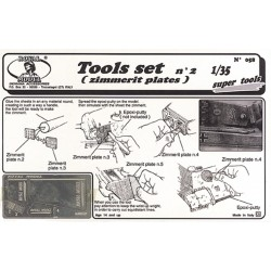 Tools set for zimmerit application (1/35)