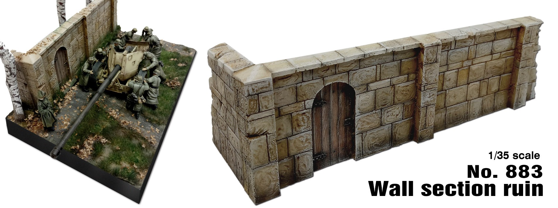 Wall section ruin (1/35 scale)